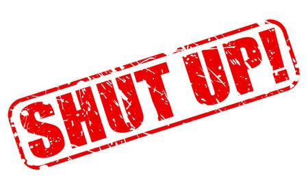 shut: Shut up red stamp text on white Stock Photo