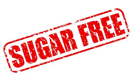 low cal: Sugar free red stamp text on white