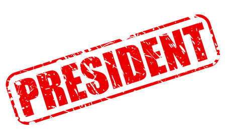 President red stamp text on white