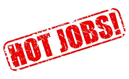 Hot jobs red stamp text on white 版權商用圖片 - 40867686