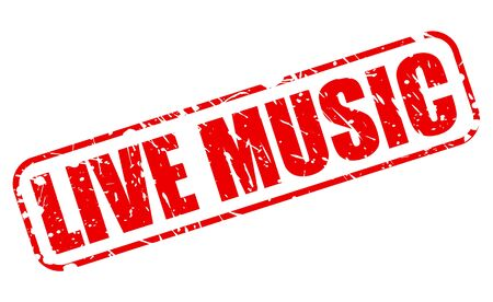 musik: Live music red stamp text on white