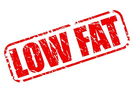 low fat: Low fat red stamp text on white Stock Photo