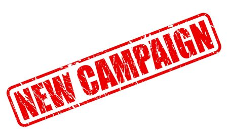 newness: New campaign red stamp text on white Stock Photo