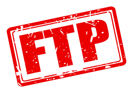 protocol: FTP red stamp text on white (File Transfer Protocol) Stock Photo