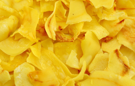 fried snack: Durian chips fried snack fruit background
