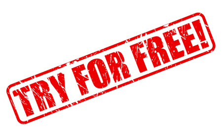 shareware: Try for free red stamp text on white Stock Photo