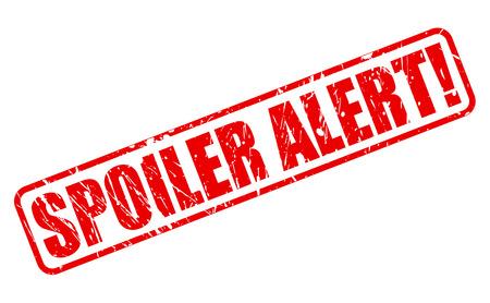 alerta: Alerta Spoiler texto del sello rojo sobre blanco