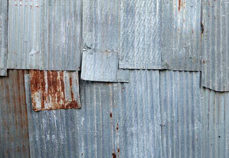 corrugated iron: A rusty corrugated iron metal texture background
