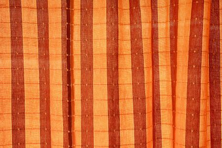 endless: Endless yellow and red striped fabric background Stock Photo