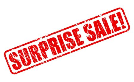 red stamp: Surprise sale red stamp text on white