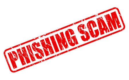 extortion: PHISHING SCAM red stamp text on white Stock Photo