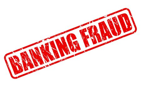 extortion: BANKING FRAUD red stamp text on white Stock Photo