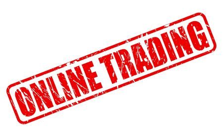 online trading: ONLINE TRADING red stamp text on white Stock Photo