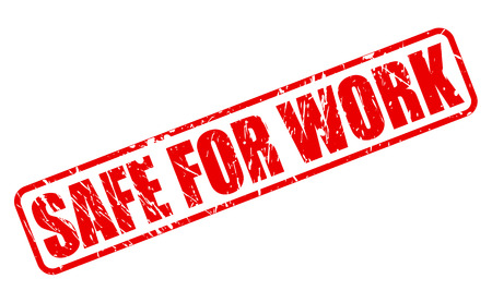white work: Safe for work red stamp text on white Stock Photo
