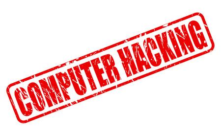 fraudster: Pirateria informatica testo timbro rosso su bianco Archivio Fotografico
