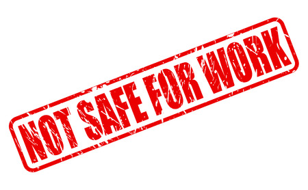 classify: Not safe for work red stamp text on white Stock Photo