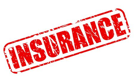 financial emergency: Insurance red stanp text on white Stock Photo