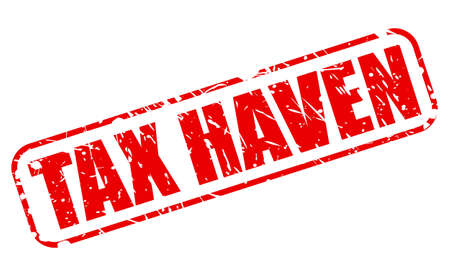 avoidance: Tax haven red stamp text on white
