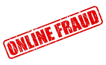 blackmail: Online fraud red stamp text on white