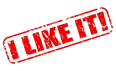 like it: I like it red stamp text on white Stock Photo