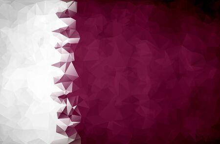 qatar: Abstract Qatar flag polygon background Stock Photo