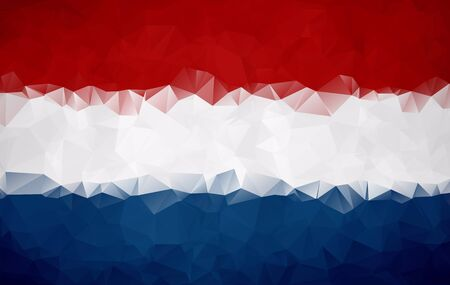 netherlandish: Abstract Netherlands flag polygon background Stock Photo