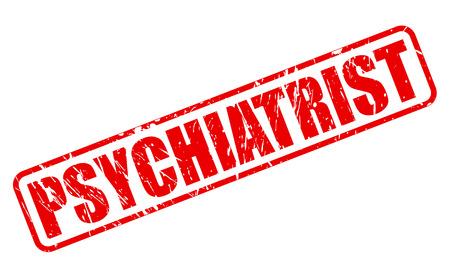 psychiatrist: PSYCHIATRIST red stamp text on white