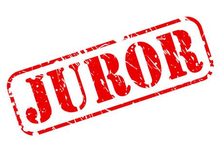 juror: Juror red stamp text on white