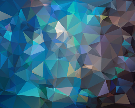 Abstract dark blue polygonal texture background Imagens