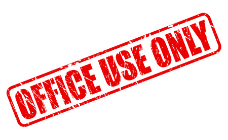 office use: Office use only red stamp text on white Stock Photo