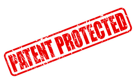 safeguarded: PATENT PROTECTED red rubber stamp text on white