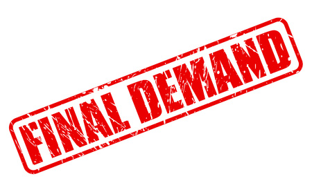 demand: Final demand red stamp text on white