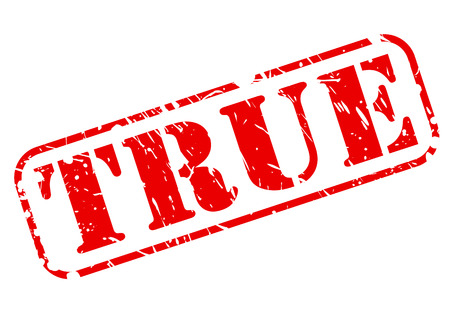 validez: Cierto texto del sello rojo sobre blanco
