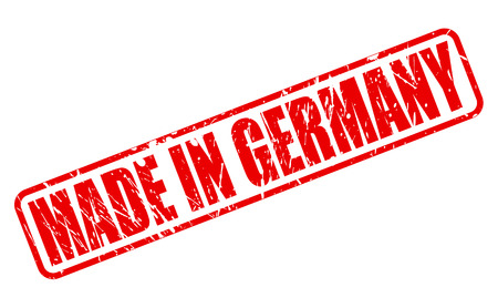 exported: Made in germany red stamp text on white