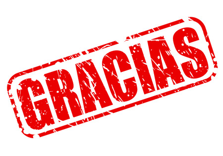 thankfulness: GRACIAS red stamp text on white
