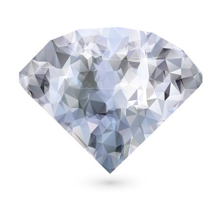 shiny background: Shiny white diamond on white background Stock Photo