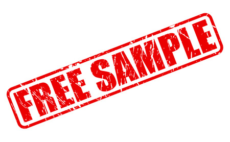 sample: Free sample red stamp text on white