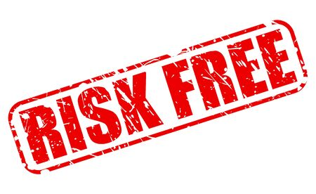 risk free: Risk free red stamp text on white Stock Photo