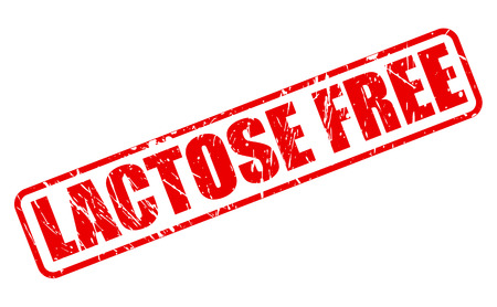 lactose: Lactose free red stamp text on white