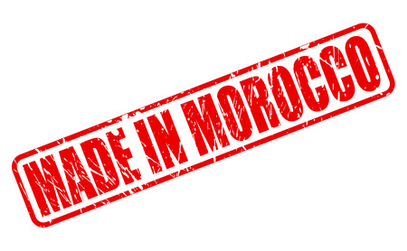 made in morocco: Made in morocco red stamp text on white