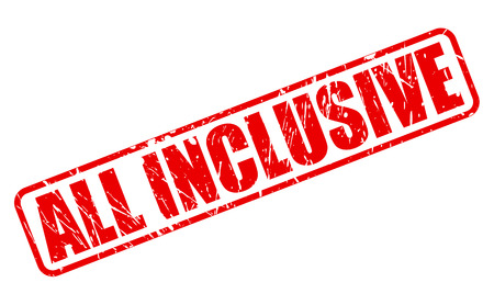 inclusive: All inclusive red stamp text on white Stock Photo