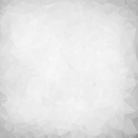 Abstract white polygon texture background Imagens - 43087758