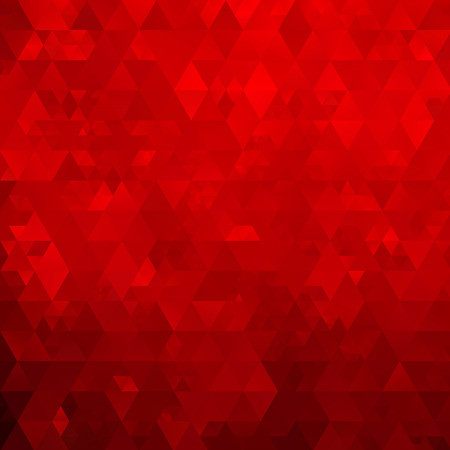 Abstract mosaic geometrical red background