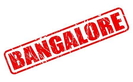 karnataka culture: BANGALORE red stamp text on white