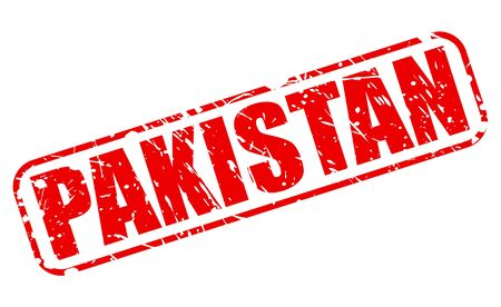 islamabad: PAKISTAN red stamp text on white