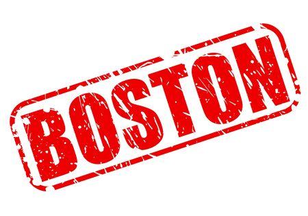 boston tea party: Boston red stamp text on white