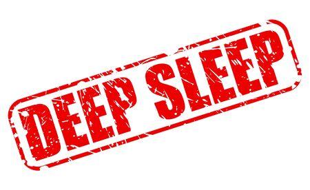 deep: Deep sleep red stamp text on white Stock Photo