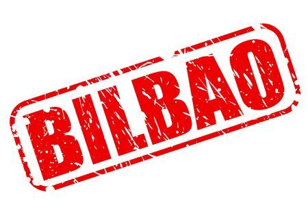 bilbao: BILBAO red stampp text on white