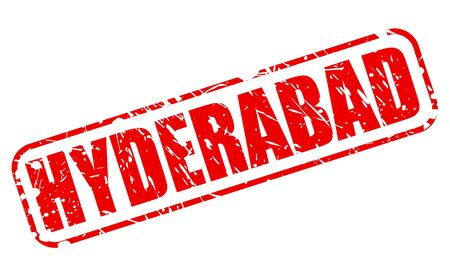 hyderabad: HYDERABAD red stamp text on white