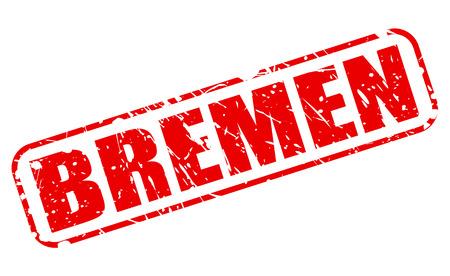 bremen: Bremen red stamp text on white Stock Photo